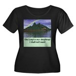 The Lord Women's Plus Size Scoop Neck Dark T-Shirt