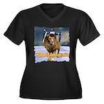 LOJ Ver 2 - Women's Plus Size V-Neck Dark T-Shirt