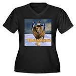 LOJ Ver 1 - Women's Plus Size V-Neck Dark T-Shirt