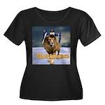 Lion - Women's Plus Size Scoop Neck Dark T-Shirt