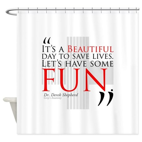 Beautiful day to save lives shower curtain by wheetv10 for Shower curtain savers