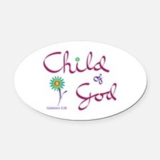 Child Of God - Oval Car Magnet