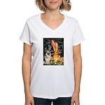Fairies / G-Shep Women's V-Neck T-Shirt