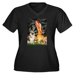 Fairies / G-Shep Women's Plus Size V-Neck Dark T-S