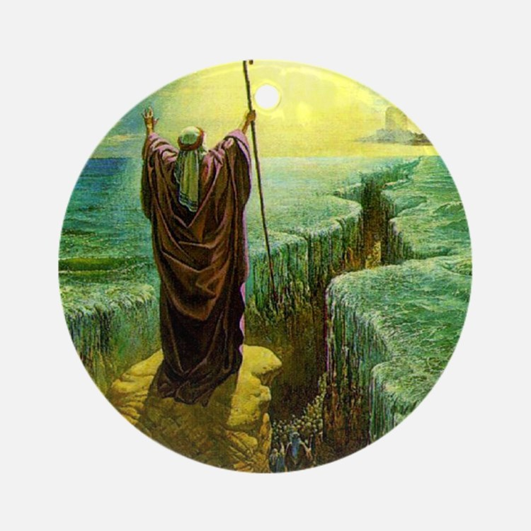 Moses MIracle at the Red Sea Isra Ornament (Round)