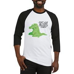 No Crocodile Tears Design Baseball Jersey