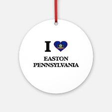I love Easton Pennsylvania Ornament (Round)