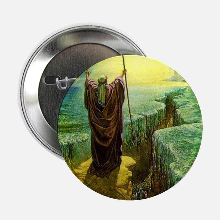 "Moses MIracle at the Red Sea Israel P 2.25"" Button"