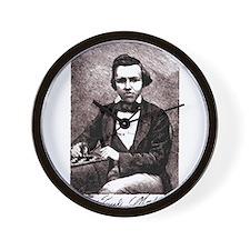 Chess player Paul Charles Morphy Americ Wall Clock