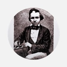 Chess player Paul Charles Morphy Ornament (Round)