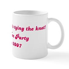 Buy us a shot, Jo's tying the Mug