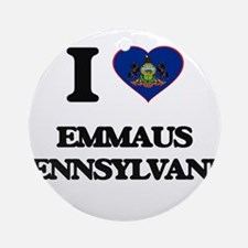 I love Emmaus Pennsylvania Ornament (Round)
