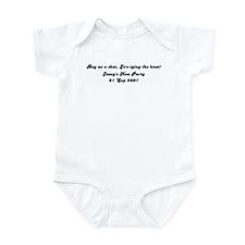 Buy us a shot, Jo's tying the Infant Bodysuit
