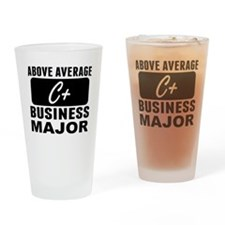 Above Average Business Major Drinking Glass