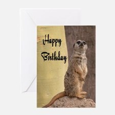 Happy Birthday Meerkat Greeting Card