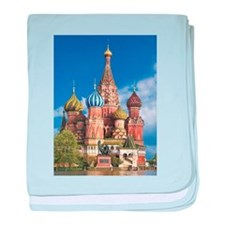Saint Basil's Cathedral Russian Ortho baby blanket