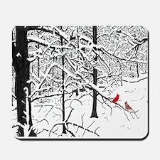 Cardinal Snow Scene Mousepad
