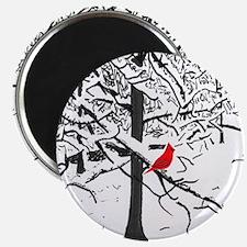 Cardinal Snow Scene Magnets