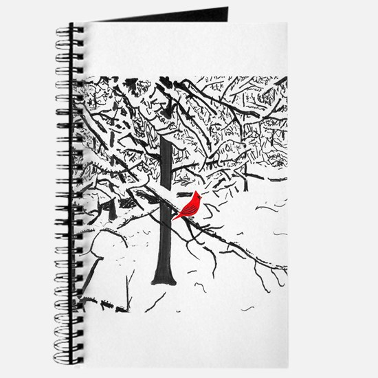 Cardinal Snow Scene Journal