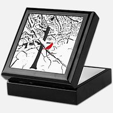 Cardinal Snow Scene Keepsake Box