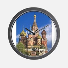 Saint Basil's Cathedral Russian Orthodo Wall Clock
