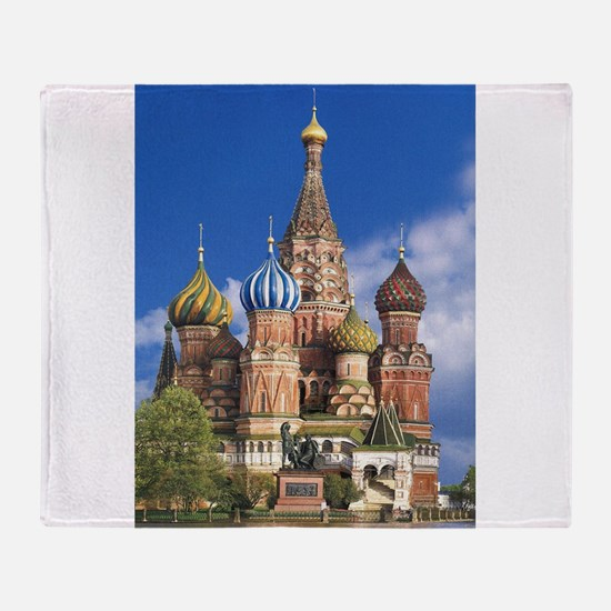 Saint Basil's Cathedral Russian Orth Throw Blanket
