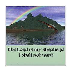 Lord is My Shepherd - Tile Coaster