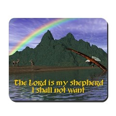 The Lord is My Shepherd Version 2 - Mousepad