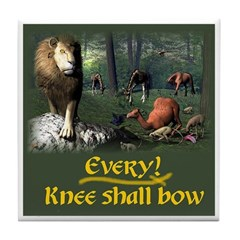 Every Knee Shall Bow - Tile Coaster