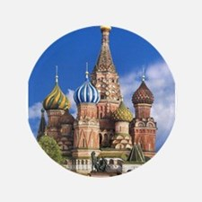 "Saint Basil's Cathedral Rus 3.5"" Button (100 pack)"