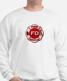 Fire department symbol red Sweatshirt