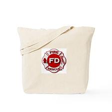 Fire department symbol red Tote Bag