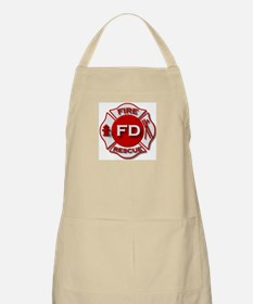 Fire department symbol red Apron