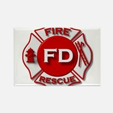 Fire department symbol red Magnets