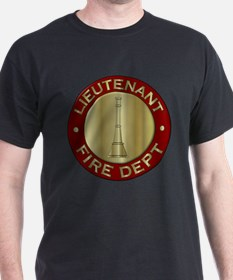 Lieutenant fire department symbol T-Shirt