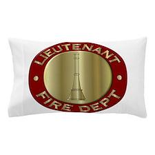 Lieutenant fire department symbol Pillow Case