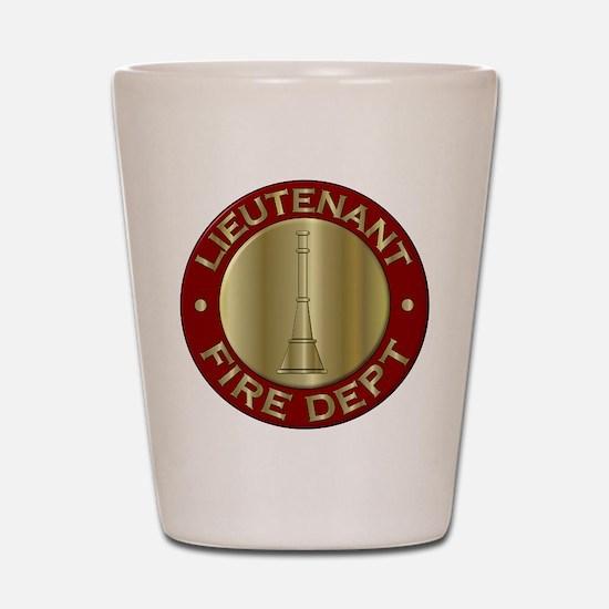 Lieutenant fire department symbol Shot Glass