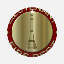 Lieutenant fire department symbol Ornament (Round)