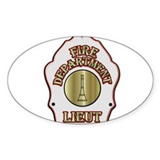 Fire department Lieutenant white helmet sh Decal