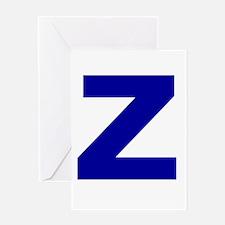 Z Greeting Card