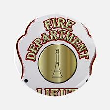 """Fire department Lieutenant 3.5"""" Button (100 pack)"""