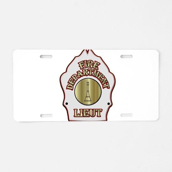 Fire department Lieutenant Aluminum License Plate