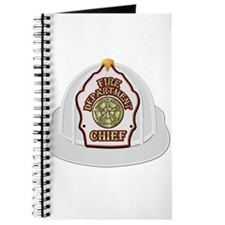 White fire chief helmet Journal