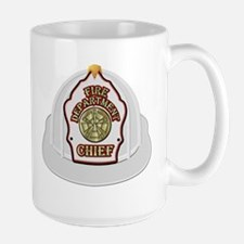 White fire chief helmet Mugs