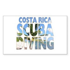 Costa Rica Scuba Diving Rectangle Decal