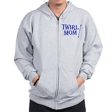 TWIRL MOM (both sides) Zip Hoodie