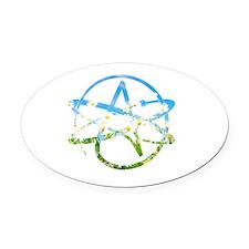 Springtime Atheist Oval Car Magnet