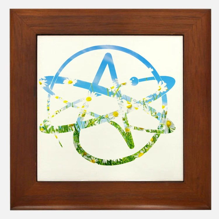 Springtime Atheist Framed Tile