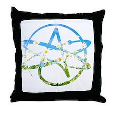 Springtime Atheist Throw Pillow
