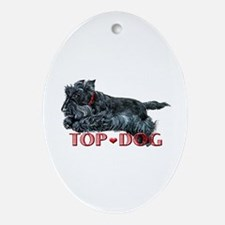 Top Dog Scottish Terrier Oval Ornament